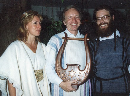Presidential Candidate, Senator Joseph Lieberman and his wife Hadassah, wearing Beged Ivri